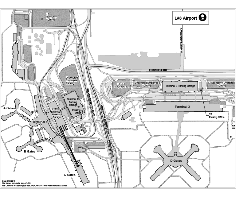 Ground Transportation Maps At McCarran International Airport - Las airport map