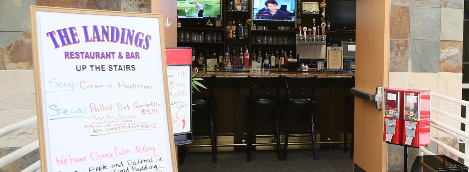 The Landings Restaurant Sign