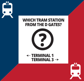 Which Tram Station from D Gates